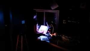 In the control room at the Great River Shakespeare Festival. Photo by Megan Winter.