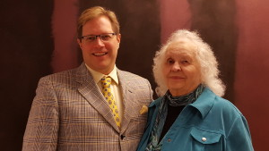 Judy Bartlett with Executive Director C. Michael-jon Pease (Photo by Mackenzie Pitterle)