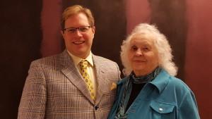 Judy Bartlett with Executive Director C. Michael-jon Pease (Photo by Mackenzie Pitterle)