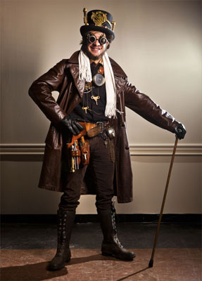 Typical steampunk attire. Aram Boghosian for The Boston Globe