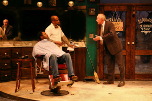 Darrick Mosley, Kevin West and Peter Thomson in The Highwaymen, directed by Jamil Jude (photo by Scott Pakudaitis)