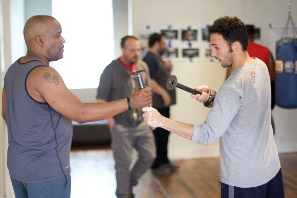 Neal Hazard and Derek Lee Miller in Rehearsal for Sandbox Theatre's Queens