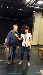 Angela Timberman with JC Cutler at a rehearsal. Photograph by Connie Shaver
