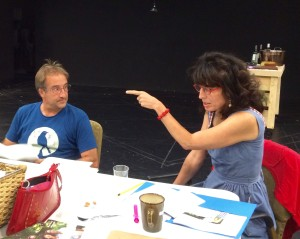 JC Cutler with Angela Timberman in a rehearsal. Photograph by Connie Shaver