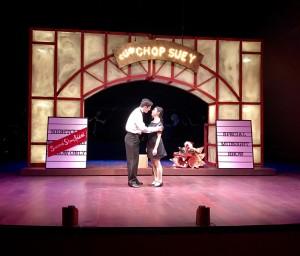 Wesley Mouri as Ta and Stephanie Bertumen as Mei Li Photo by Connie Shaver
