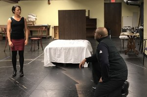 H. Adam Harris plays Watson to Kathryn Fumie's Eliza on Park Square's Proscenium Stage from April 7 to 30 (Photo by Connie Shaver)