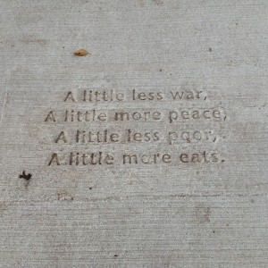 Sidewalk poetry Photo by T. T. Cheng