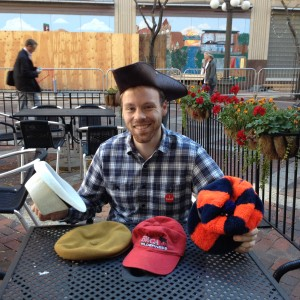 Jackson Smith and his many hats Photo by T. T. Cheng