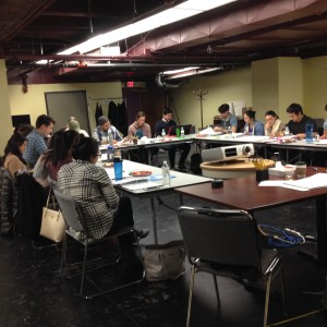 My whole being tingled with anticipation as the full cast read the script aloud for the first time. Photo by T. T. Cheng