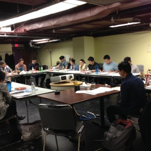 First rehearsal of Flower Drum Song (Photo by T. T. Cheng)