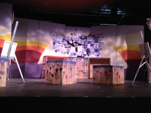 The set of Migra, created by 7/8th graders at my daughter's school  (Photo by T. T. Cheng)