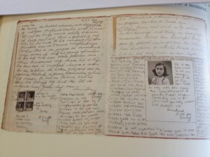 October 18, 1942, diary entry: This is a photograph of me as I wish I looked all the time. Then I might still have a chance of getting to Hollywood. But at present, I'm afraid, I usually look quite different. (Photo from Anne Frank: Beyond the Diary - A Photographic Remembrance by Ruud van der Rol and Rian Verhoeven for the Anne Frank House)