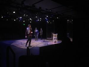 Macbeth set design realized on stage