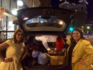 Dress for Success vehicle filled with Park Square Theatre donations