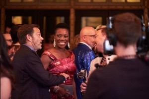 Hosts Mark Beninghofen and Regina Marie Williams. Photo credit: Ivey Awards