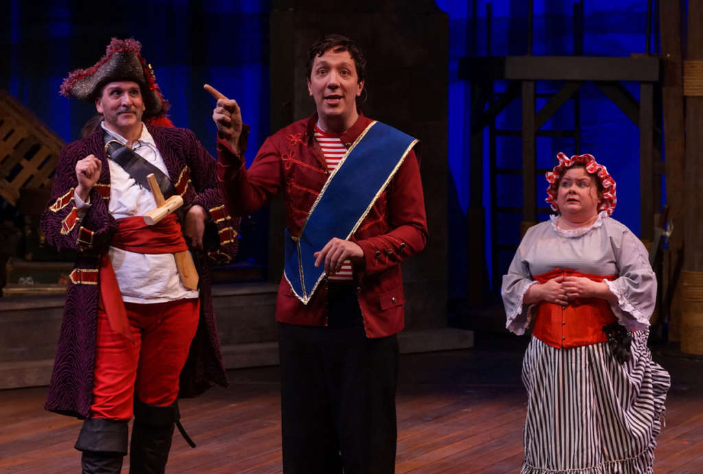 "Bradley Greenwald, Max Wojtanowicz and Elisa Pluhar in ""The Pirates of Penzance"" at Park Square Theatre."