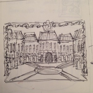The Liar Courtyard Sketch