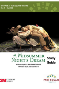 Downloadable PDf Study Guide for A Midsummer Night's Dream at Park Square Tehatre in Saint Paul, MN