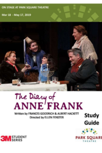 Downloadable PDF Study Guide for The Diary of Anne Frank at Park Square Theatre