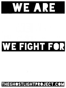 Ghostlight Project - printable We Are poster