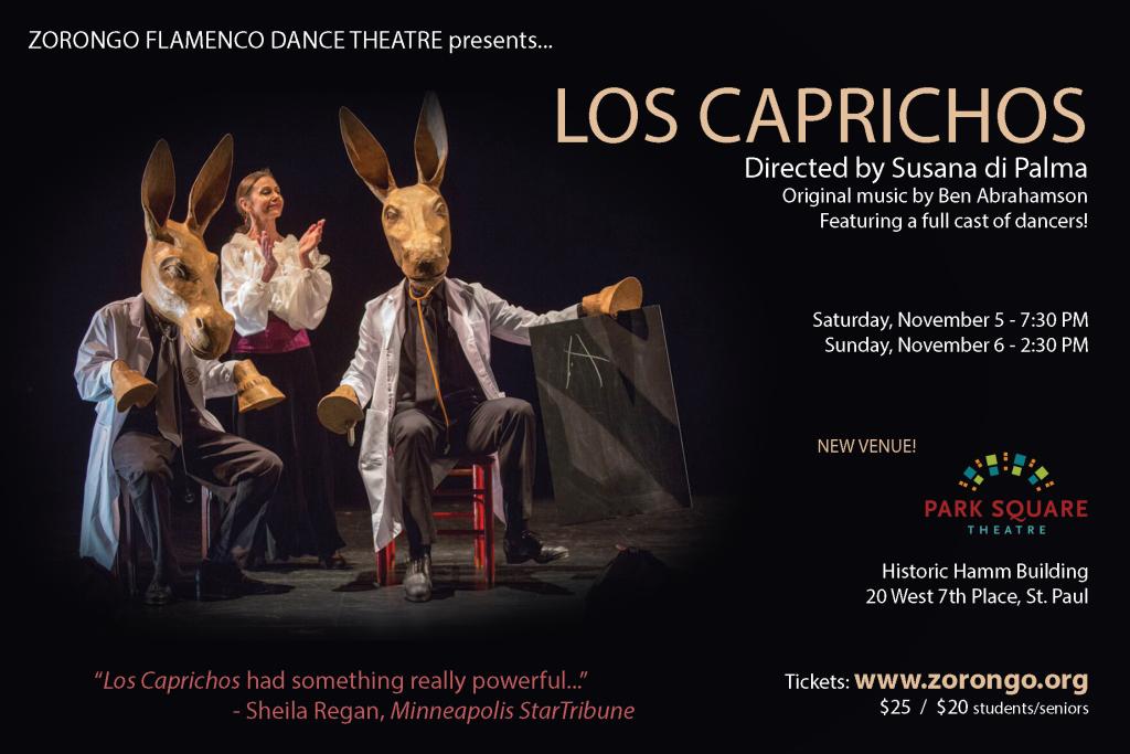 Zorongo Flamenco Theatre presents Los Caprichos at Park Square Theatre, November 5 & 6, 2016