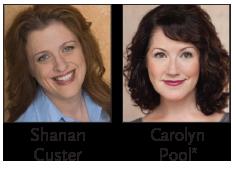 Headshots of Shanan Custer and Carolyn Pool