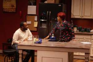 Donnie and Shelly in the kitchen