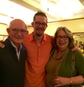 Michael Ooms with his actor-parents Richard Ooms and Claudia Wilkens who have also delighted audiences on the Park Square stages Photograph by Connie Shaver