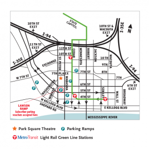 Parking Ramps & Metro Light Rail Stations