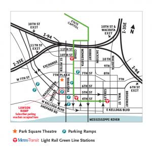 Parking Ramps & Metro Light Rail Stations